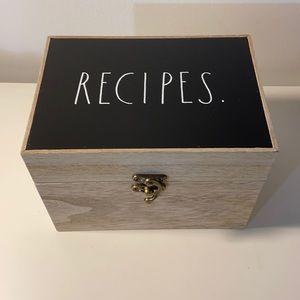 NWOT Rae Dunn Recipe Box